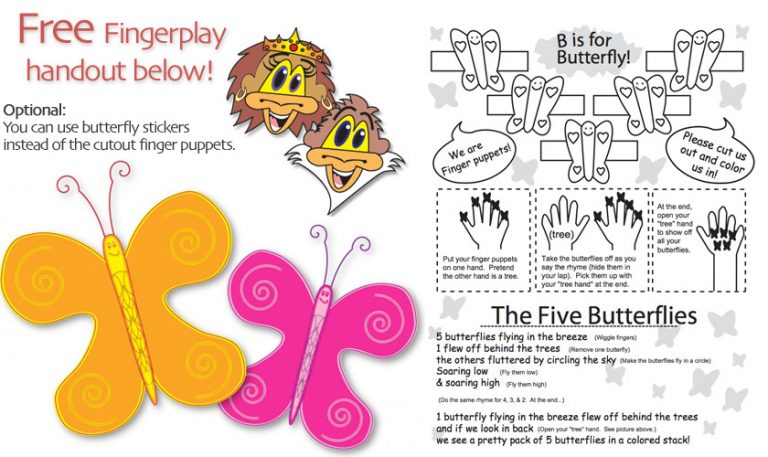 butterfly fingerplay preschool toddler