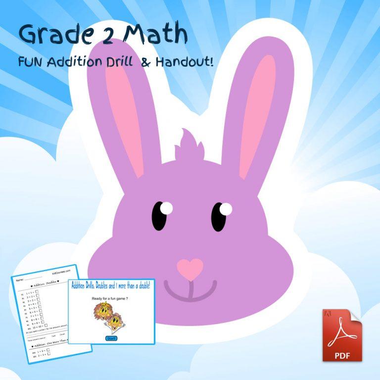 Grade 2 math fun addition drill kidcourseskidcourses com