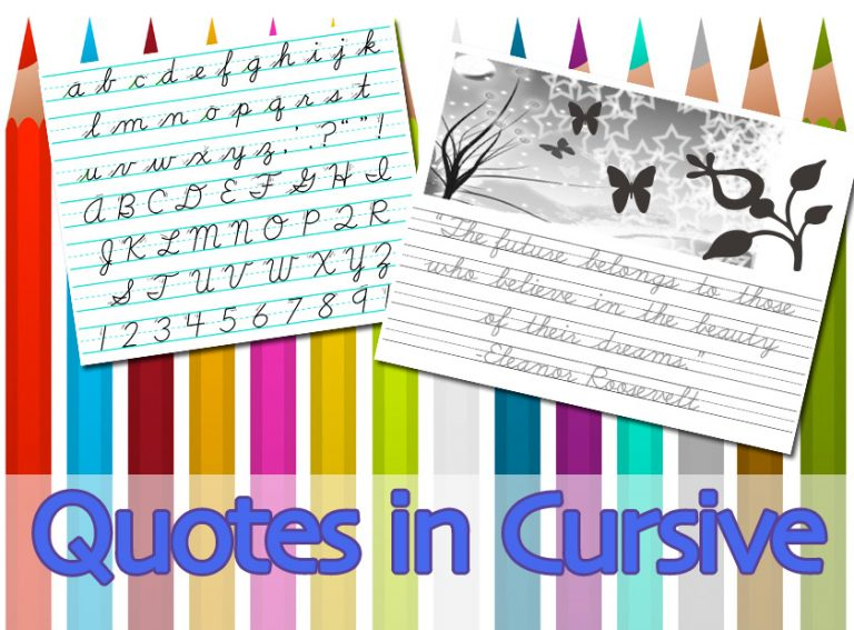 Have fun learning cursive ...