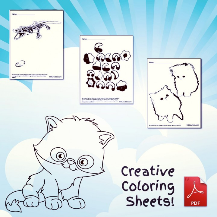 creative-coloring-pages-alligator-cookie-cat