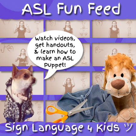 Sign Language For Kids- Videos, handouts & more!