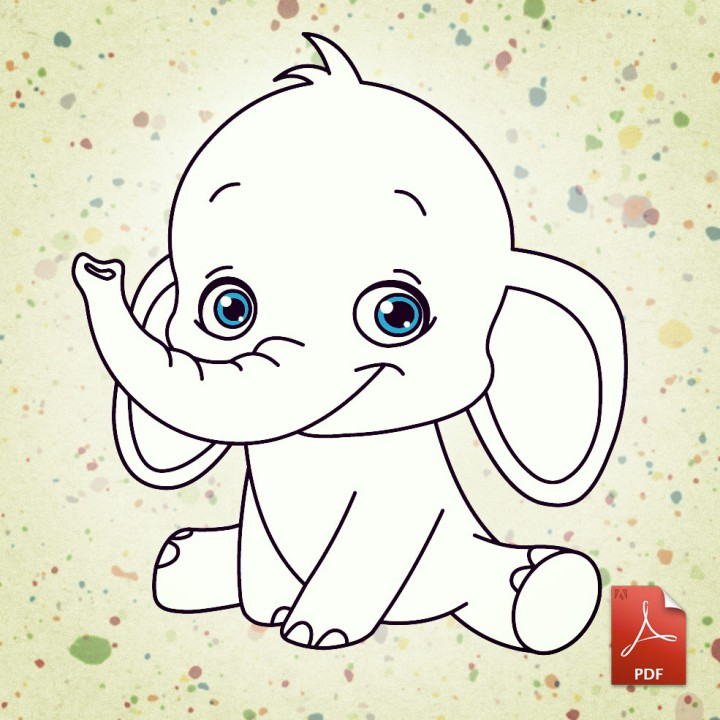 Cute Elephant Coloring Pages furthermore Cute Elephant Coloring Pages ...