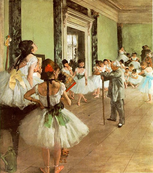 texture in art degas