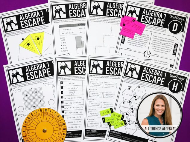 End of Year Review Escape Room Activities