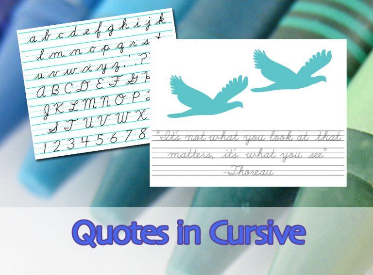 Quotes In Cursive 5 The D Nealian Script Alphabet 3 Lined Paper A Thoreau Quote Kidcourseskidcourses Com