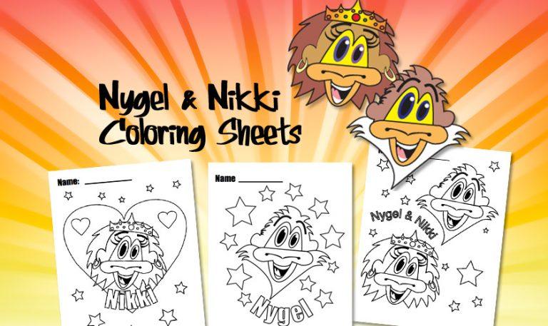 Free Coloring Sheets: Nygel & Nikki Monkey