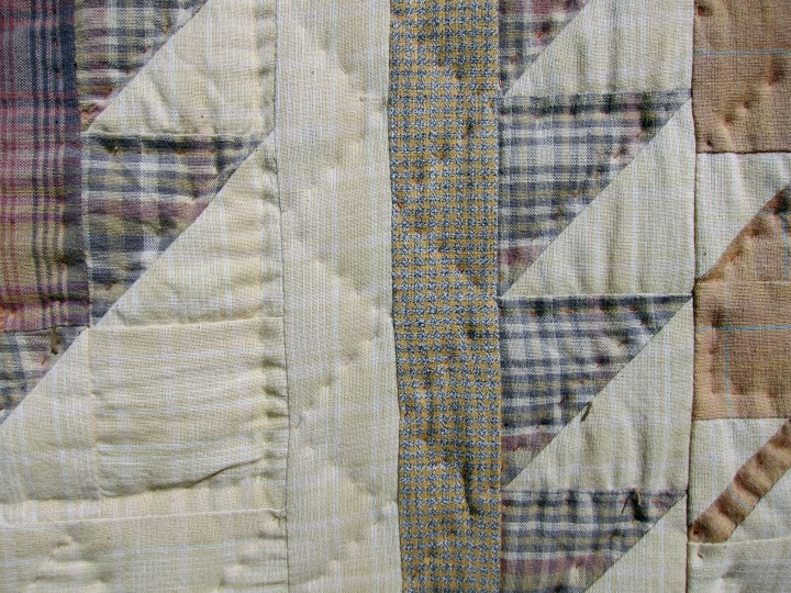 Quilting can consist of simple rows of vertical or horizontal stitching lines, crossing diagonal lines, continuous line patterns such as feathers or waves, or meandering lines known as stippling. Lines of stitching are decorative and functional.