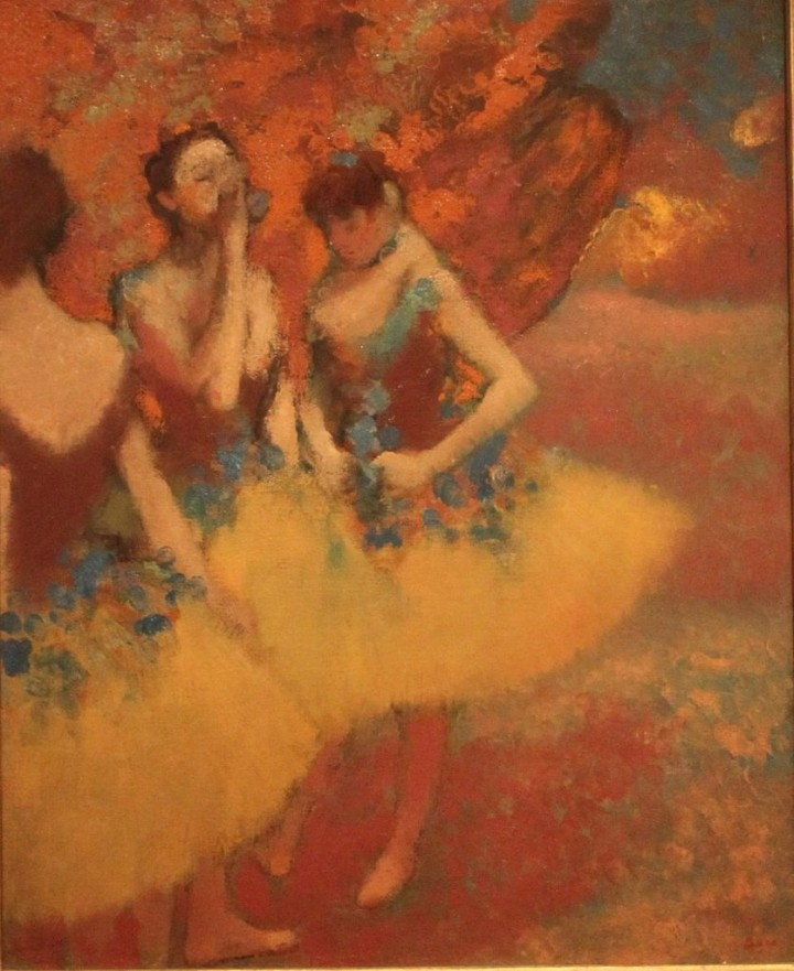 Three_Dancers_in_Yellow_Skirts_Edgar_Degas