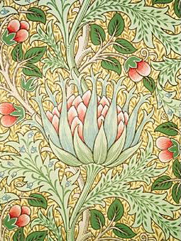 Artichoke_wallpaper_Morris_and_Co_J_H_Dearle_no_borders